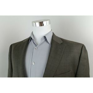 Chaps Gray 2 Button Sport Coat Blazer Mens 48R